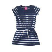 Vestido Infantil TMX  Listrado Marinho