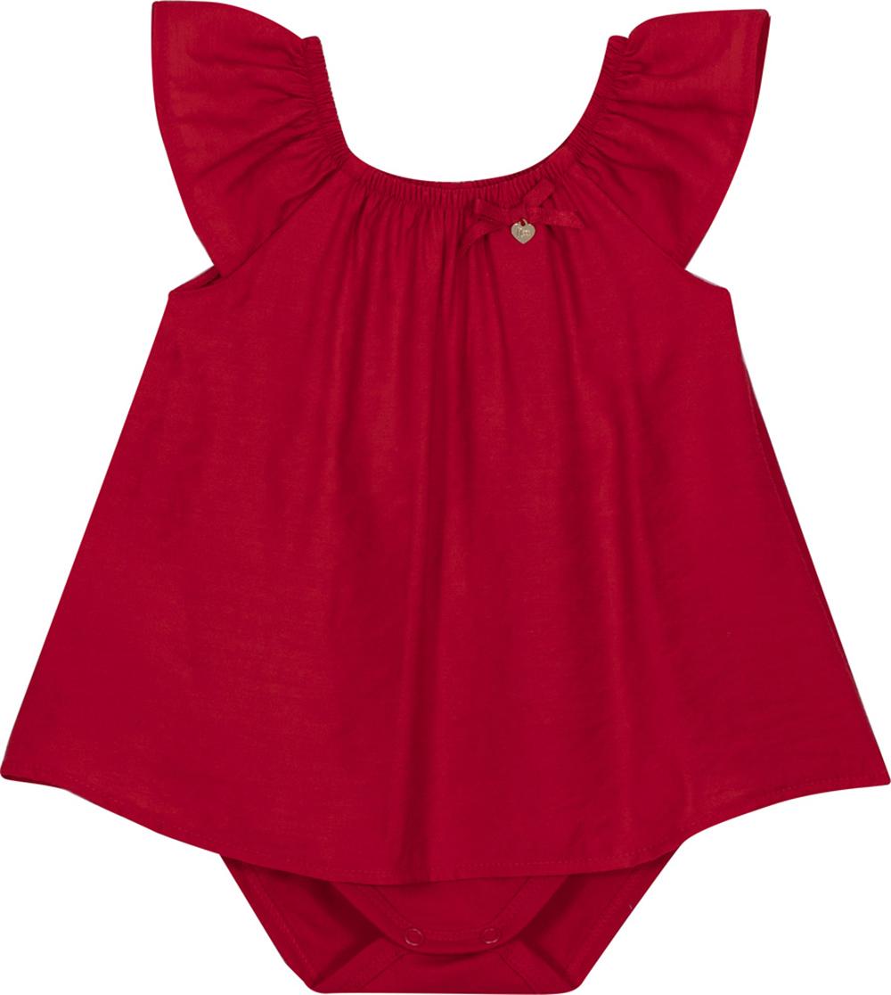 Body vestido Bebê Nini&Bambini Vermelho
