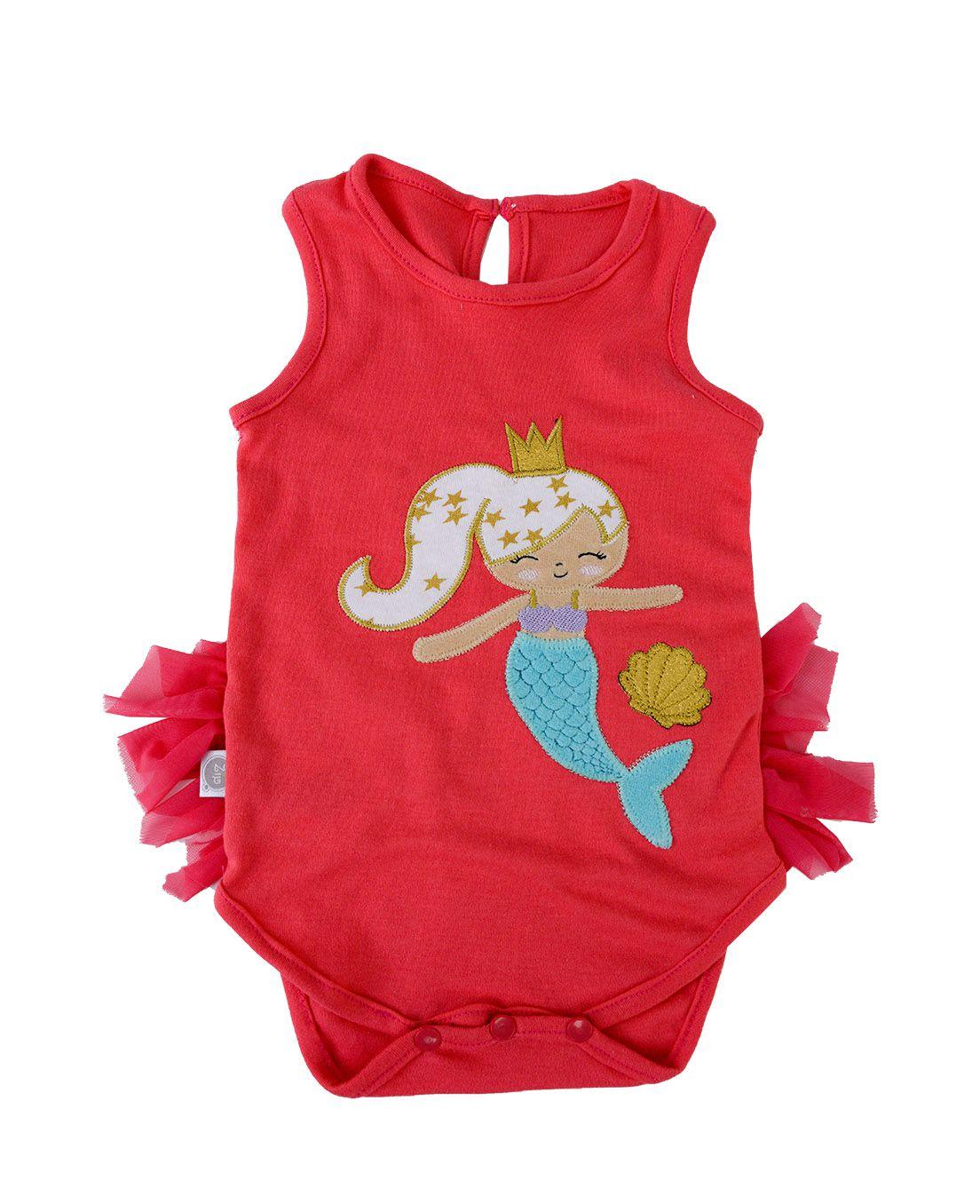 Body Bebê Zip Toys Sereia Alana Magenta