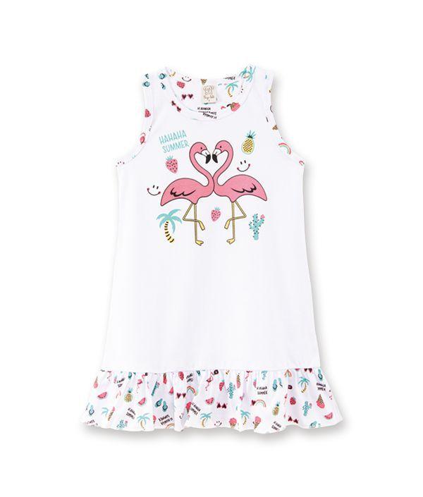 Camisola Infantil Pingo Lelê Flamingo Brilha no Escuro