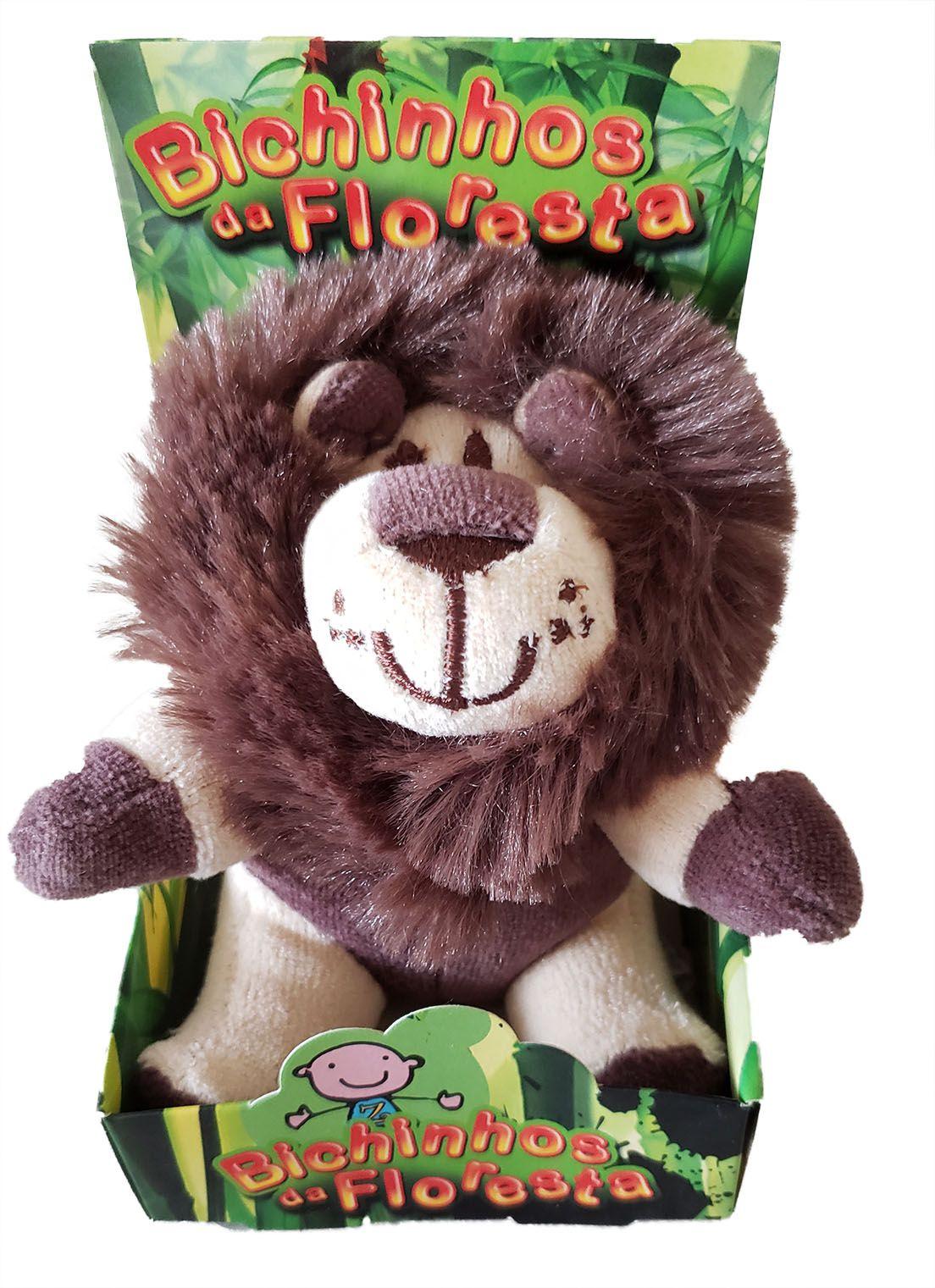 Chocalho Sensorial Mini Leão Zip Toys  Bichos da Floresta