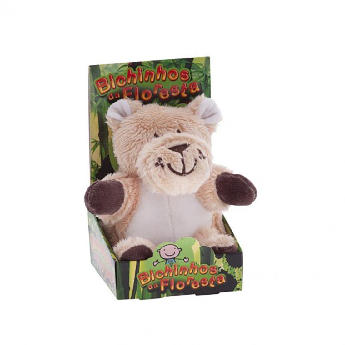 Chocalho Sensorial Mini Leoa Zip Toys  Bichos da Floresta