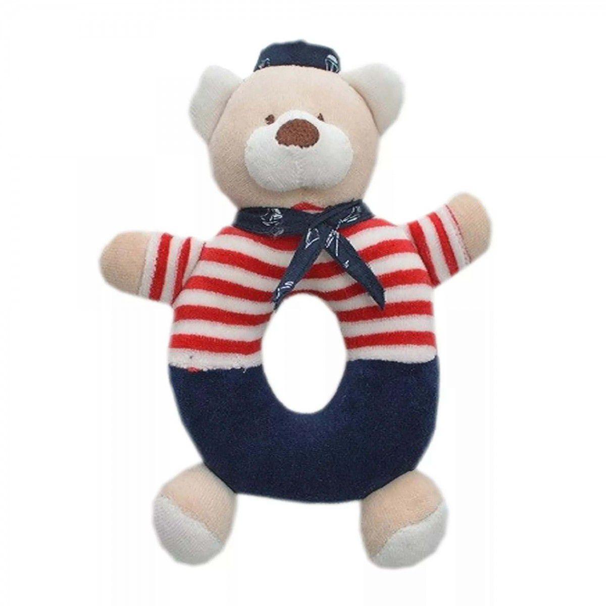 Chocalho Zip Toys Urso Marinheiro