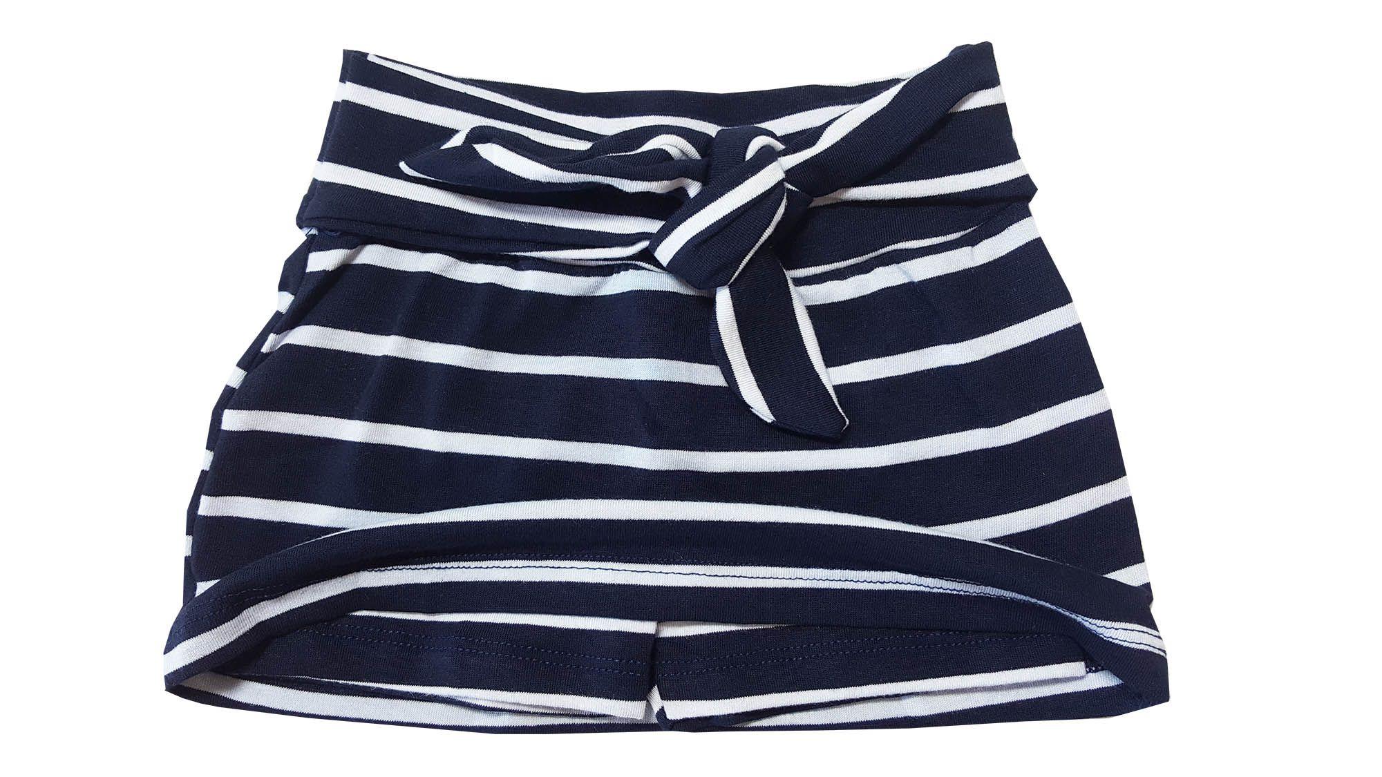 Conjunto Blusa e Saia-Shorts TMX  All You Need Listrado Marinho / Tamanho 1