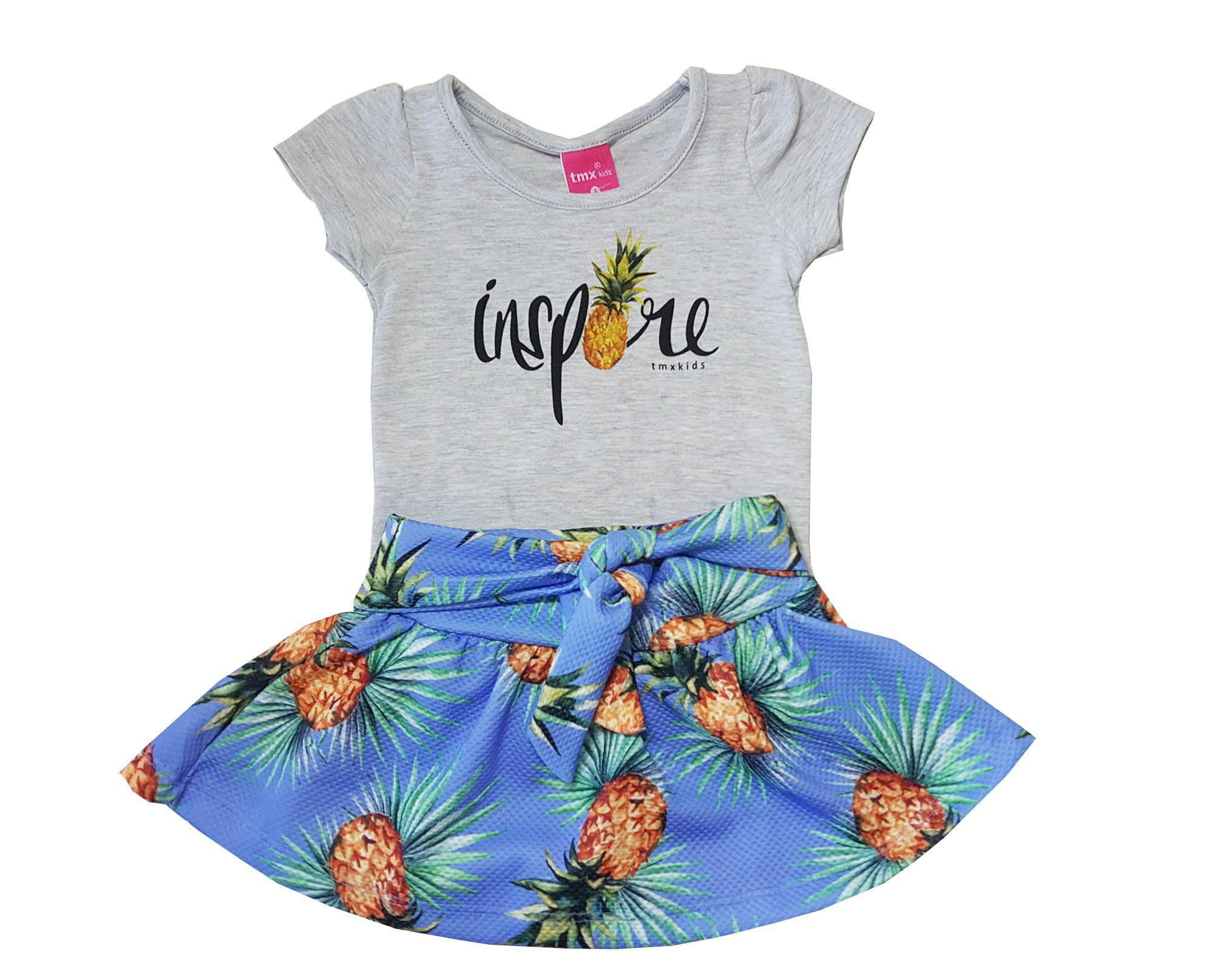 Conjunto Blusa e Saia-Shorts TMX  Inspire Azul