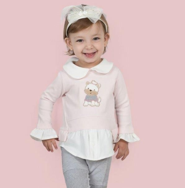 Conjunto Coquelicot  2 peças Camisa feminina e Calça legging  Rosa/mescla