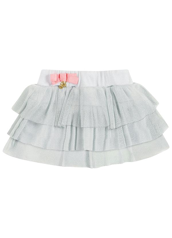 Conjunto infantil Milon Feminino  branco / prata  / Tamanho 1