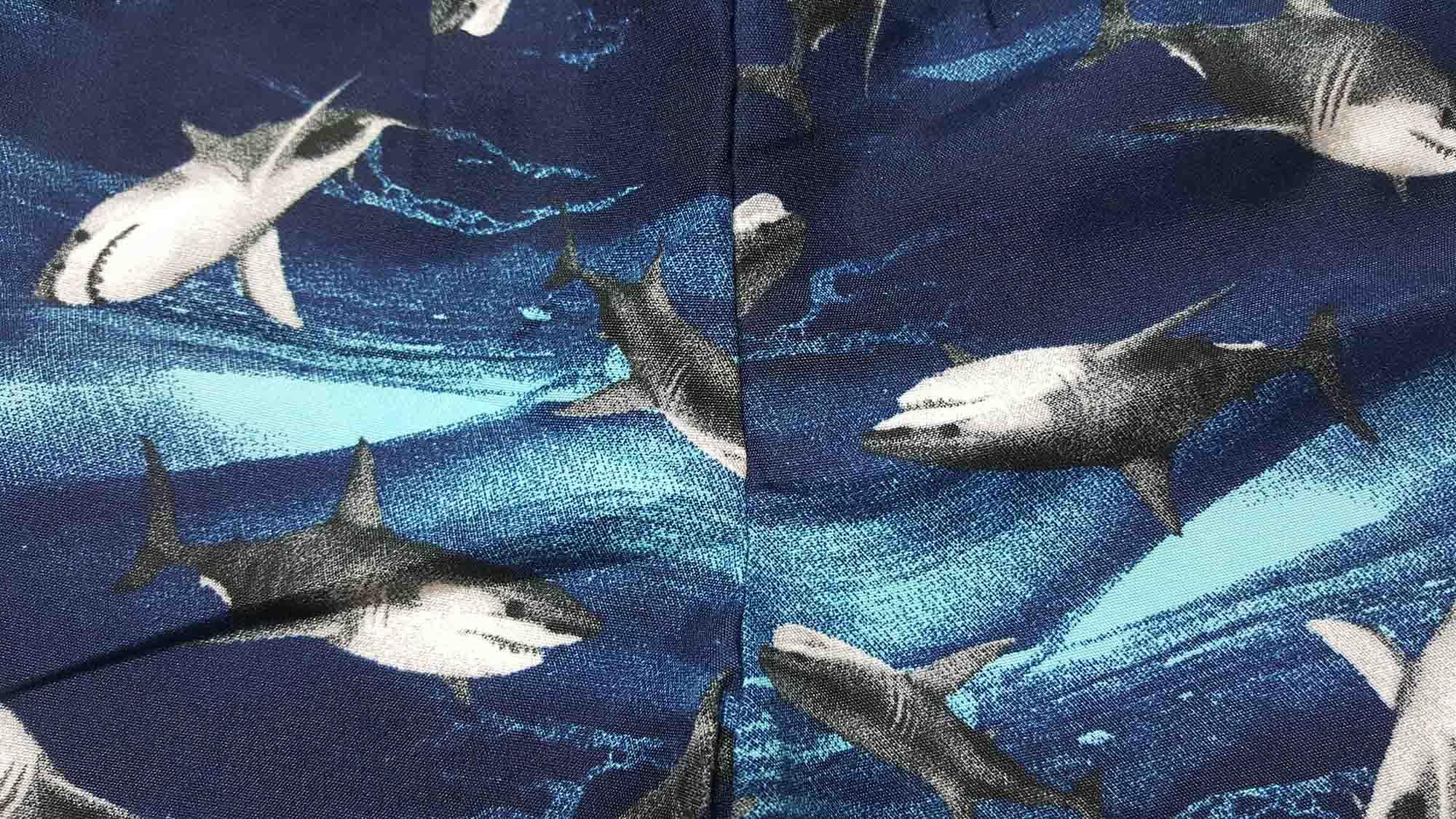 Conjunto Regata e Bermuda Tactel TMX  Shark Turquesa / Tamanho 1