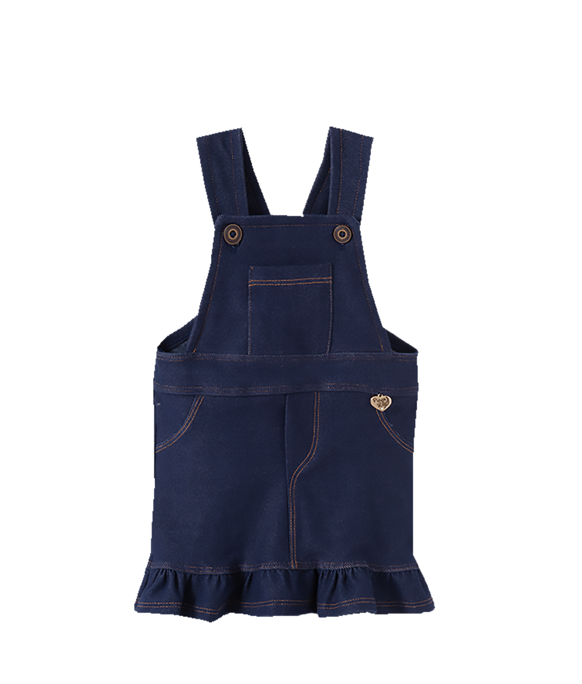 Conjunto salopete Cotton Jeans e body  manga curta Pingo Margarida Vermelho