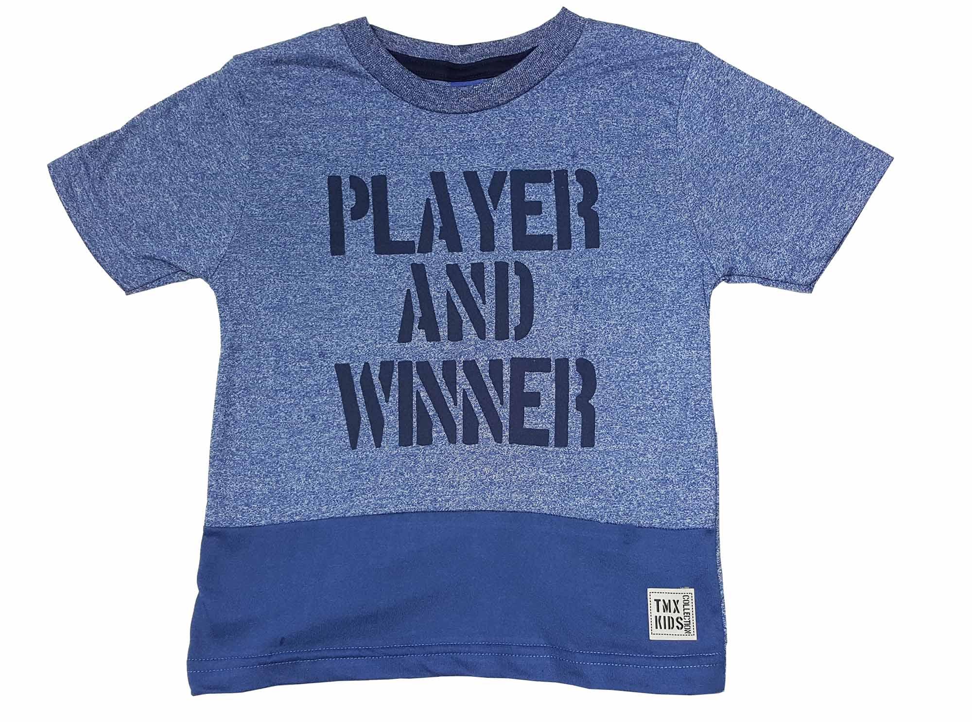 Camiseta Infantil Moulinê TMX Player Índigo