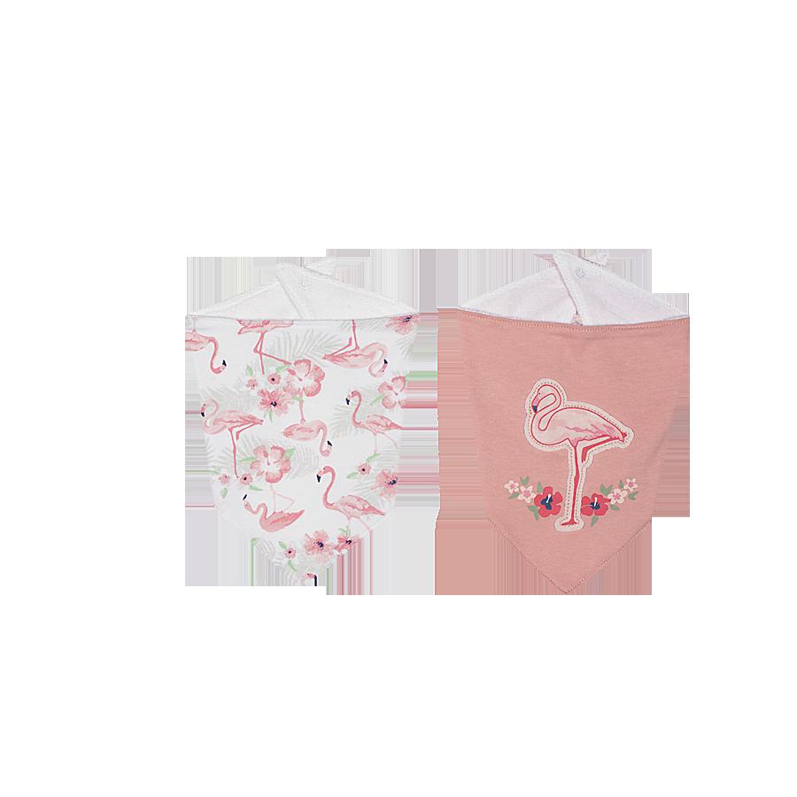 Kit babador Tip Top Bandana Flamingo Rosa