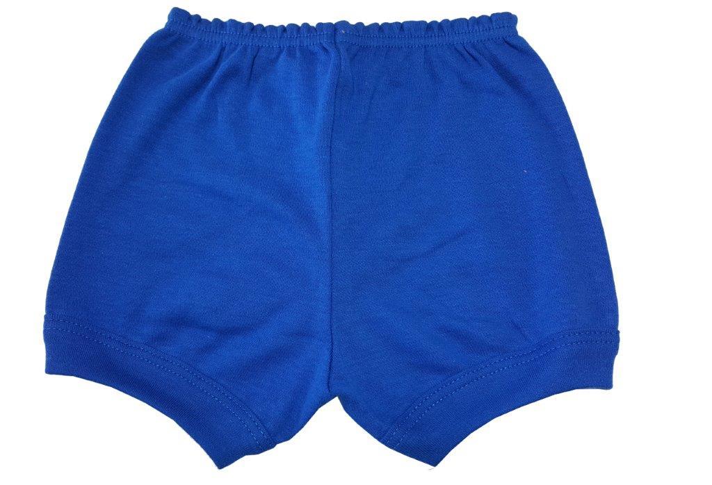 Kit Body Best Club, Short e babador Tigrinho Azul / Tamanho P