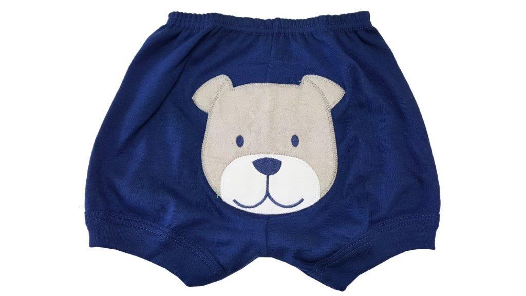 Kit Body Polo Best Club e Shorts Cachorrinho Azul / Tamanho G