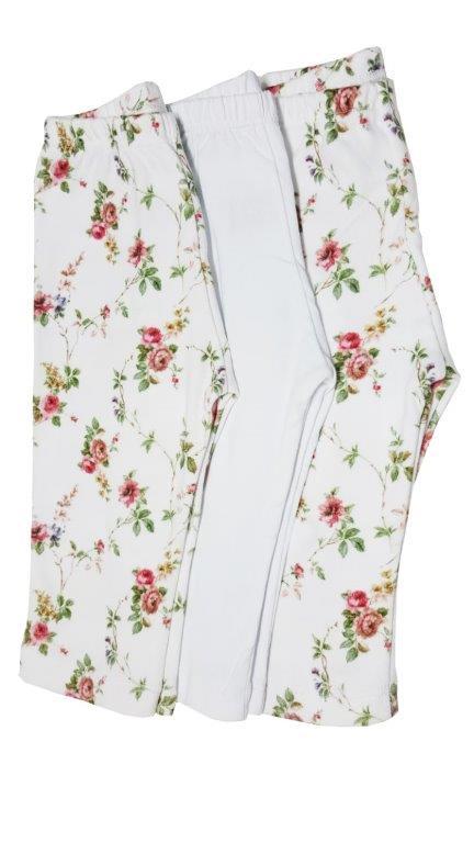 Kit calça Coquelicot 3 peças sem pé Ursinho florzinha
