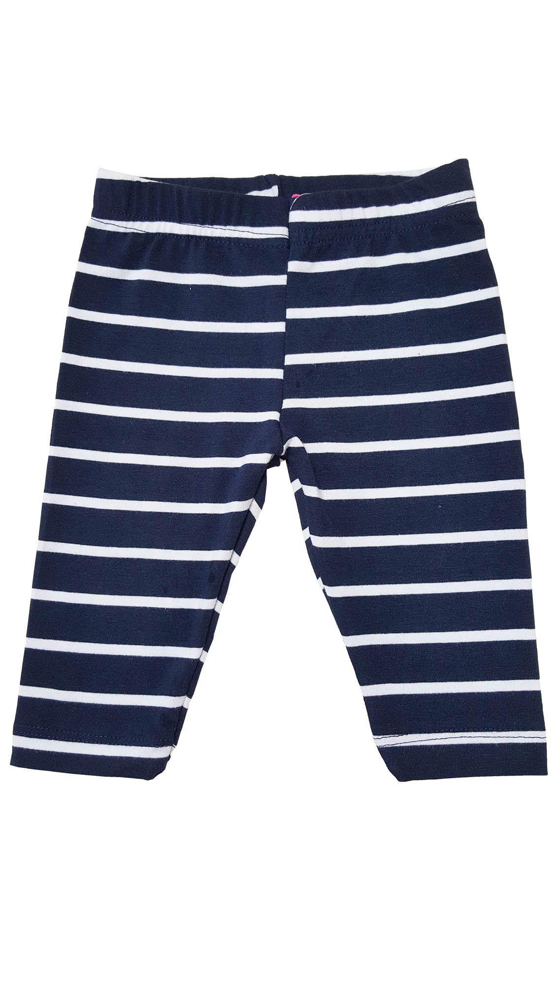 Legging Infantil Capri Primeiros Passos TMX  Listras Marinho