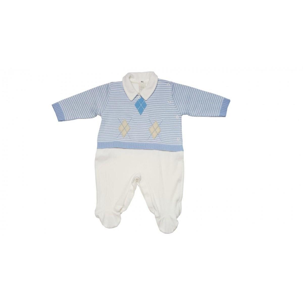 Macacão Milly Baby  Losangolo  / Tamanho RN
