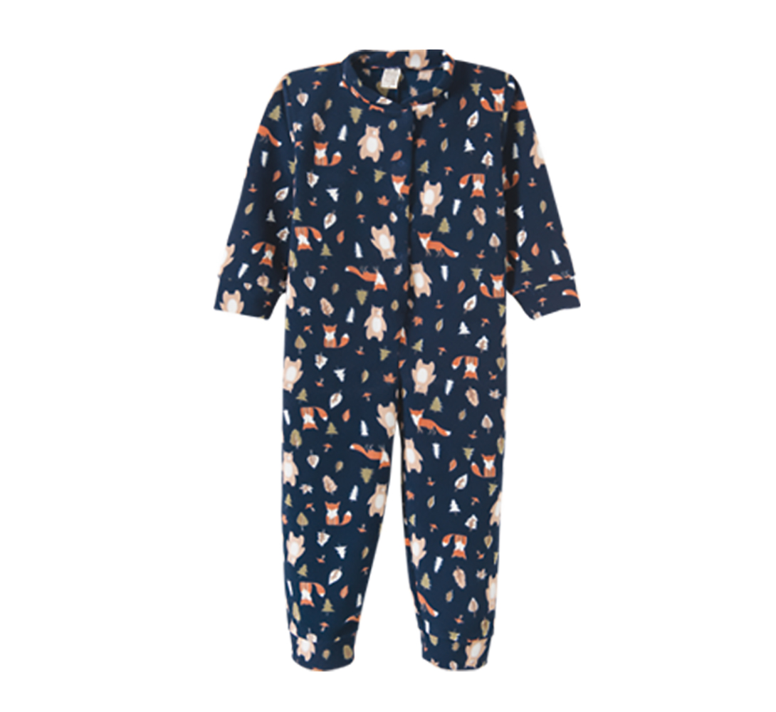 Macacão Pijama Infantil Soft Pingo Lelê  Raposa Marinho