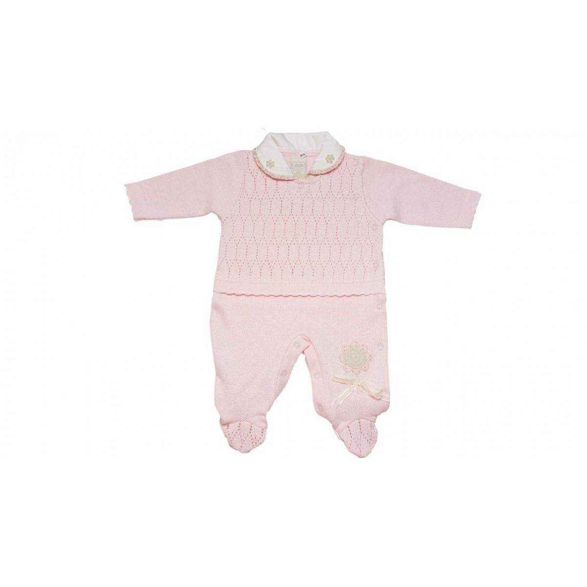 Macacão Milly Baby Rosa  / Tamanho P