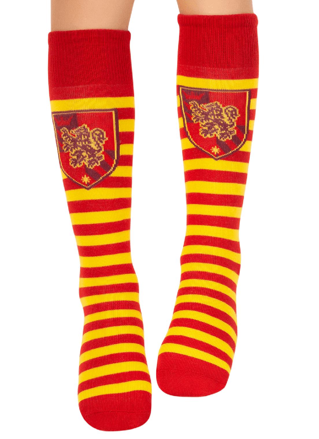 Meia  3/4  Puket Harry Potter  Amarela e vermelha