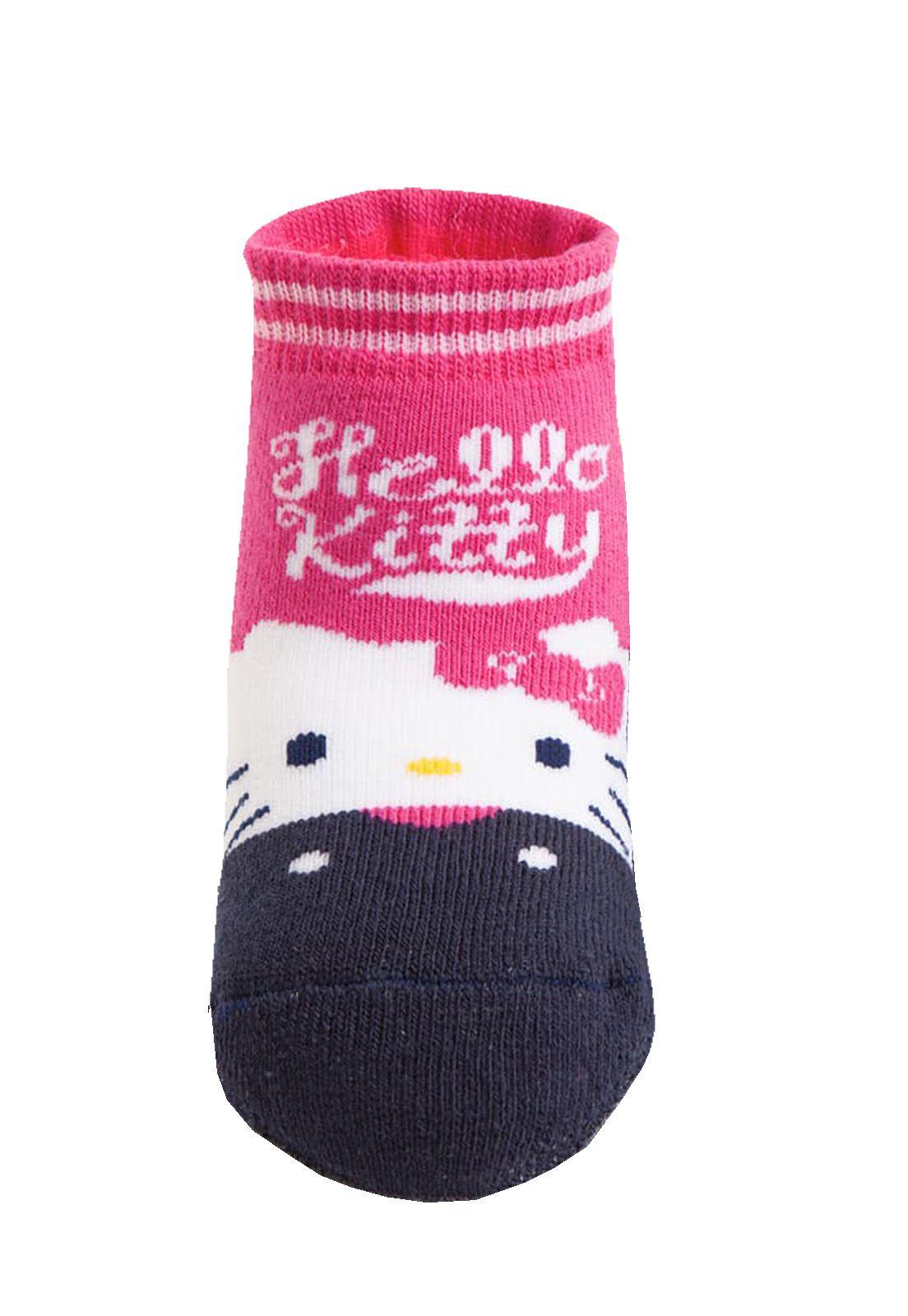 Meia Puket Pansocks Hello Kitty / Tamanho 19 a 22