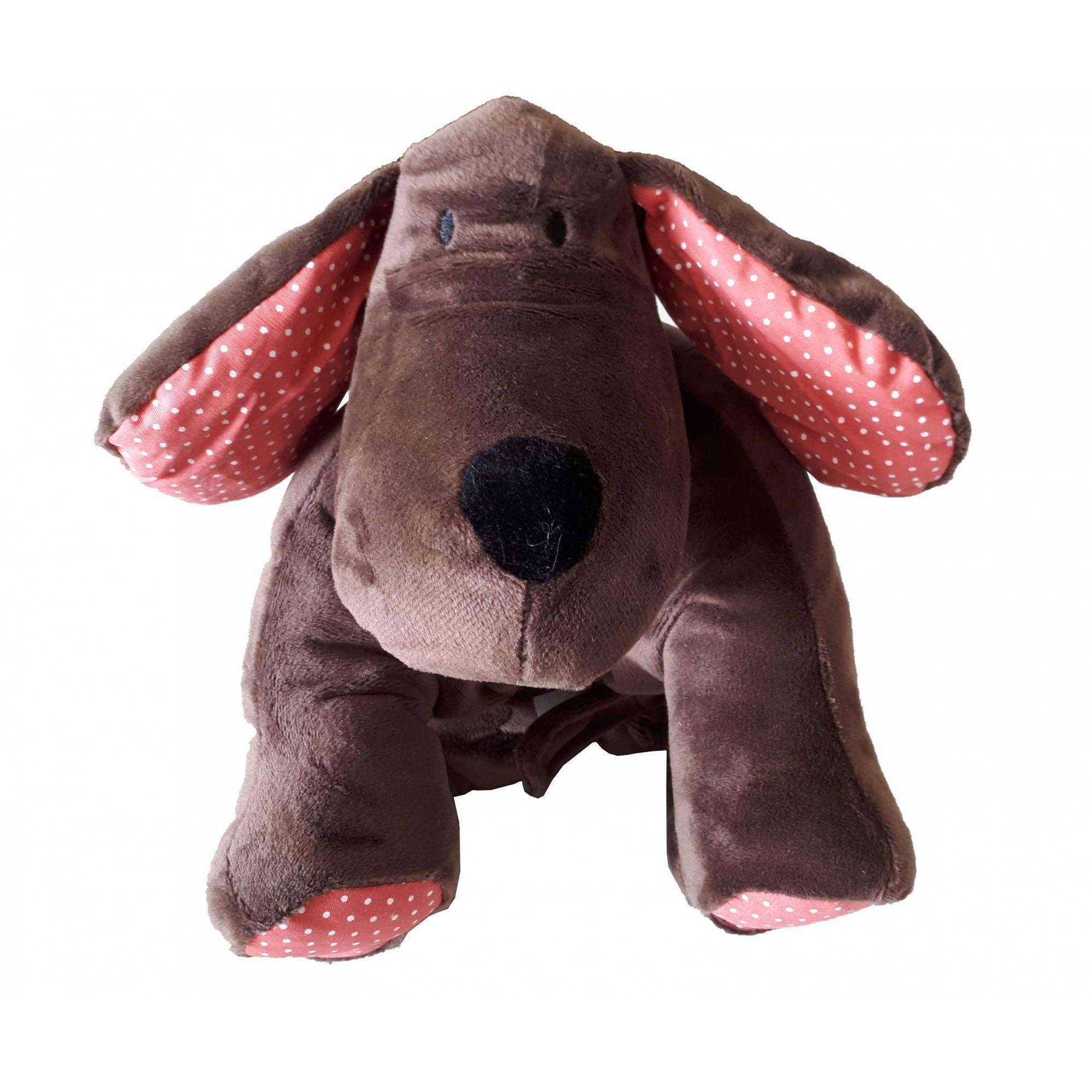 Meu 1° Puppet Cachorro Zip Toys Marrom