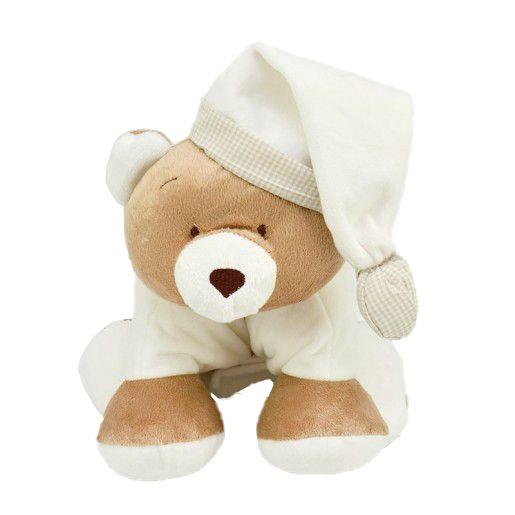 Meu 1° Puppet  Zip Toys Urso Nino Marfim