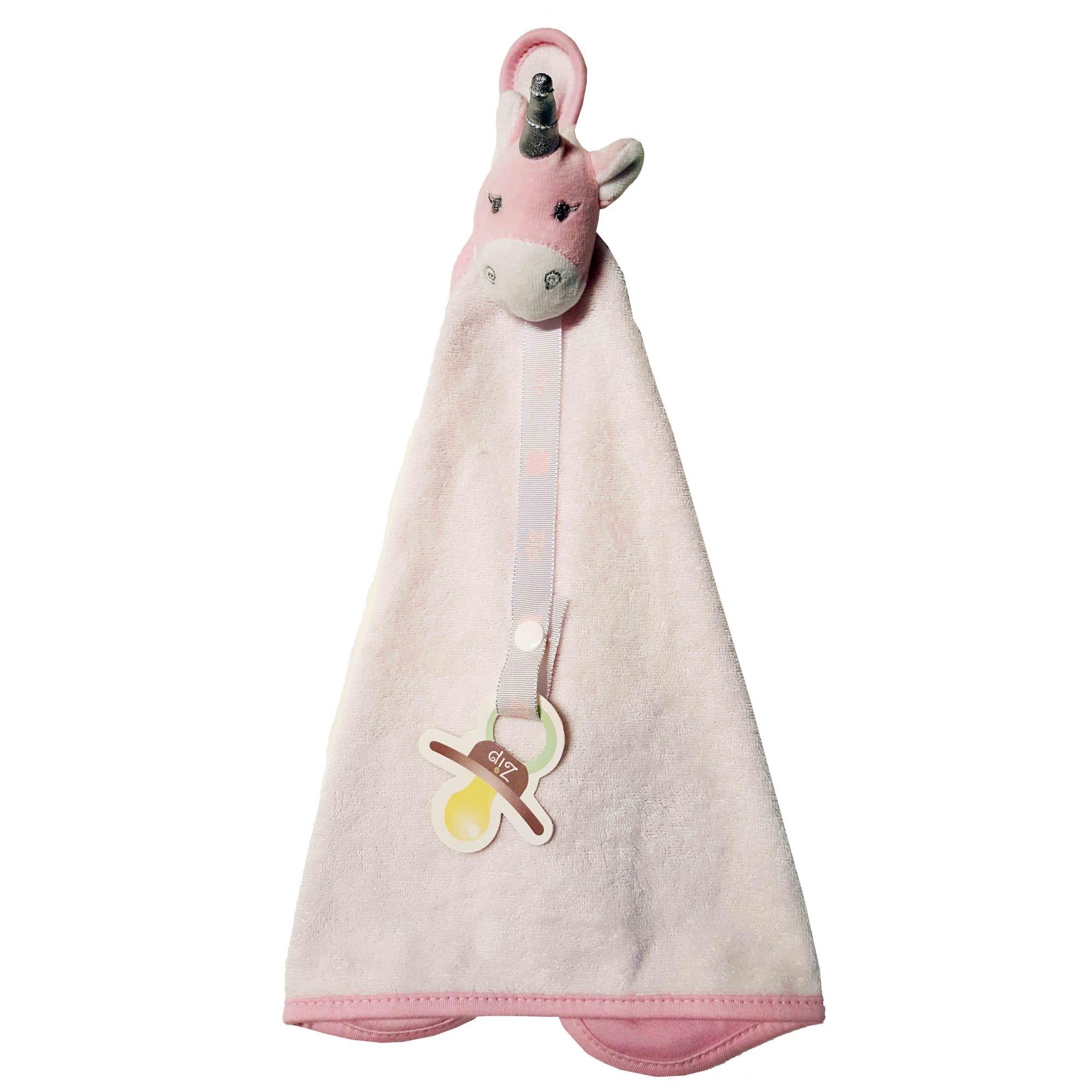 Naninha Atoalhada Zip Toys Unicórnio branco