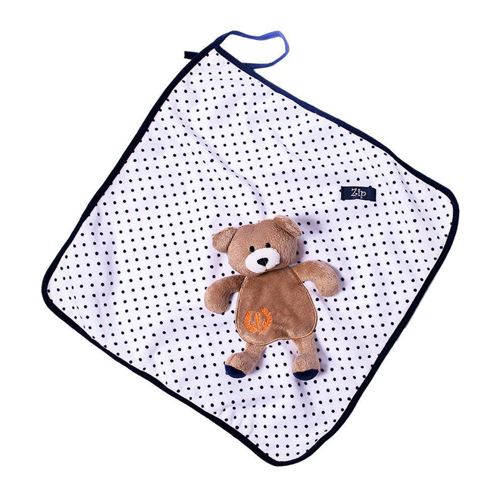 Naninha Cetim Zip Toys  Poa Urso Marinho