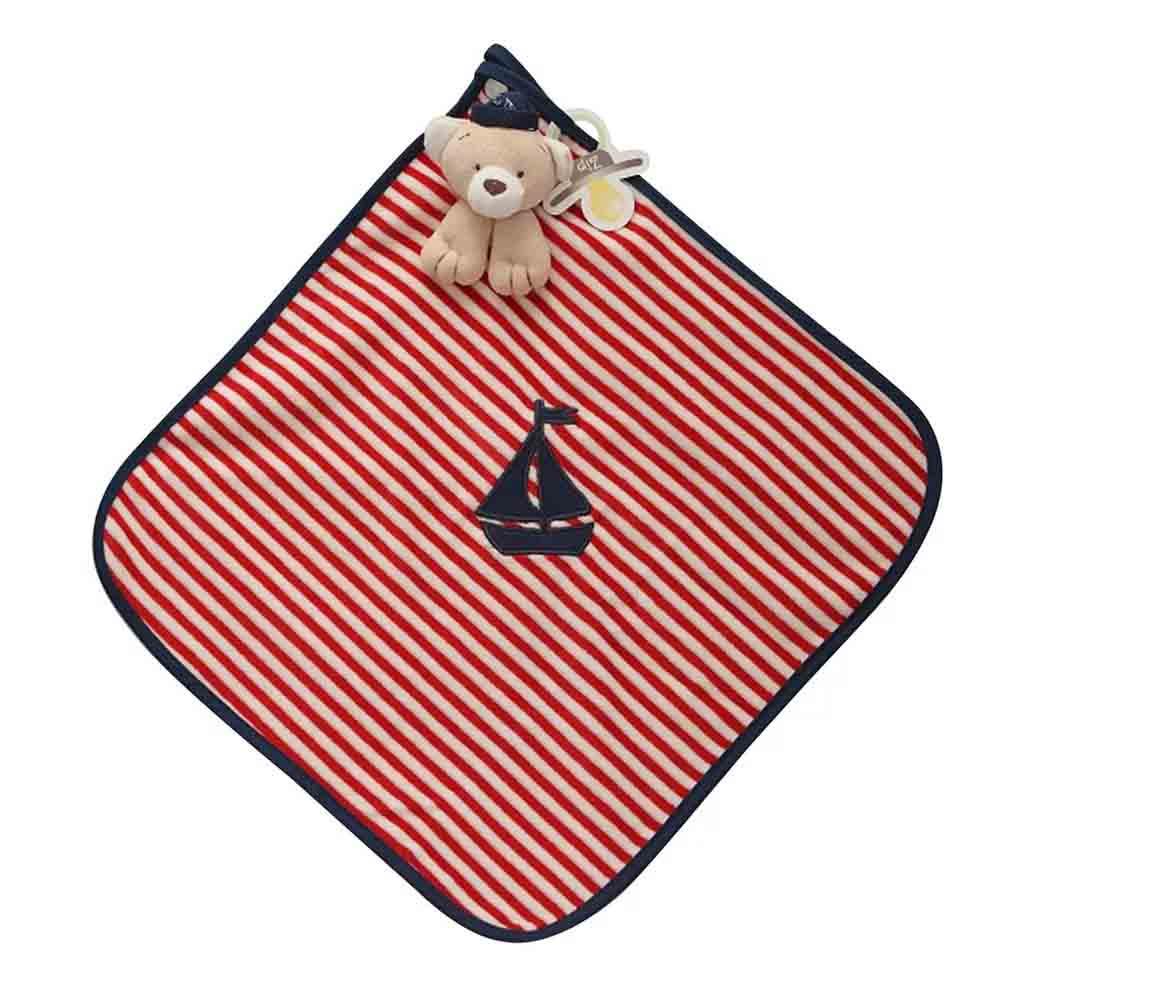 Naninha Plush Zip Toys Urso Marinheiro Listrada