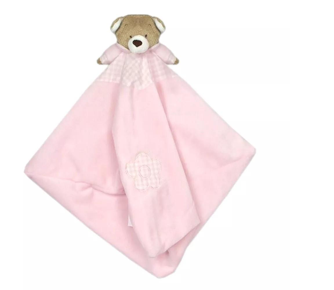 Naninha Plush Zip Toys Urso Nino Rosa