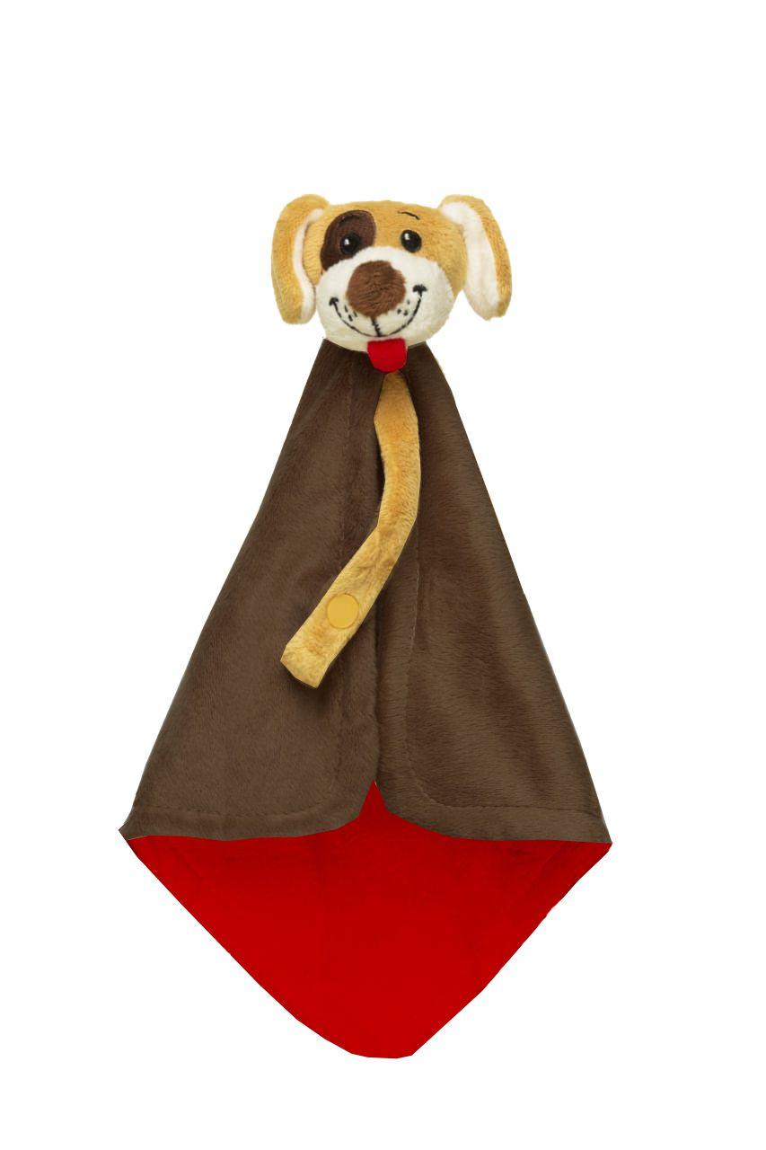 Naninha Sonho de Luz  com prendedor de chupeta em plush Cachorro