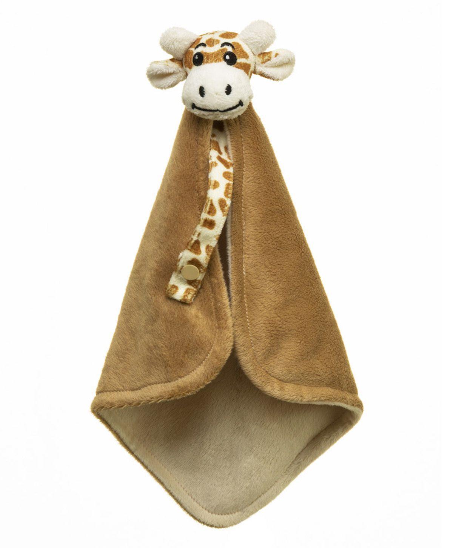 Naninha Sonho de Luz  com prendedor de chupeta em plush Girafa