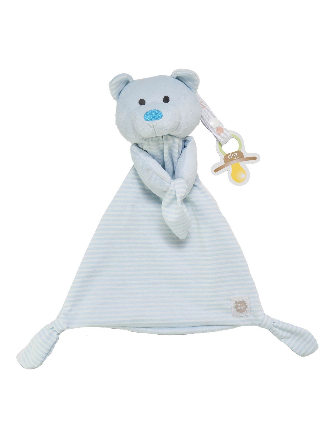Naninha Zip Toys  Urso Listrado Azul