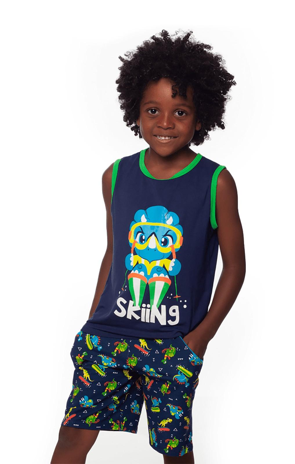 Pijama Infantil Regata e shorts  Puket  Dino
