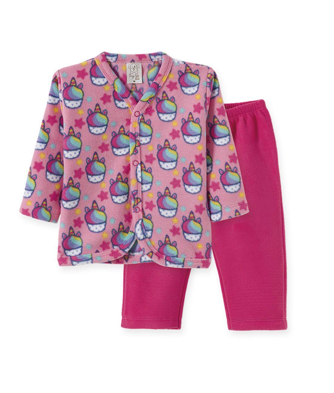 Pijama  Infantil  Soft Pingo Lelê  Unicórnio Pink