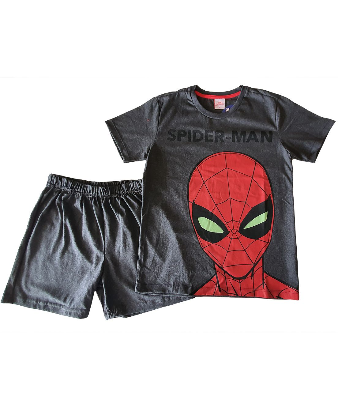 Pijama Juvenil Camiseta Manga curta e Shorts Evanilda  Spider Man Chumbo