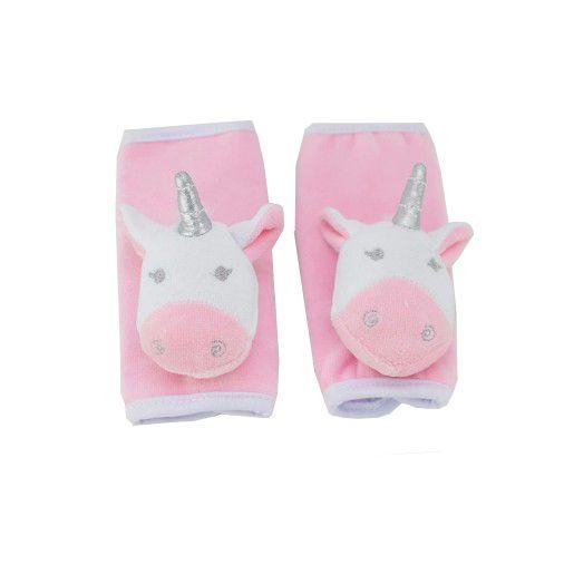 Protetor de Cinto de Segurança Zip Toys Infantil Unicórnio Rosa