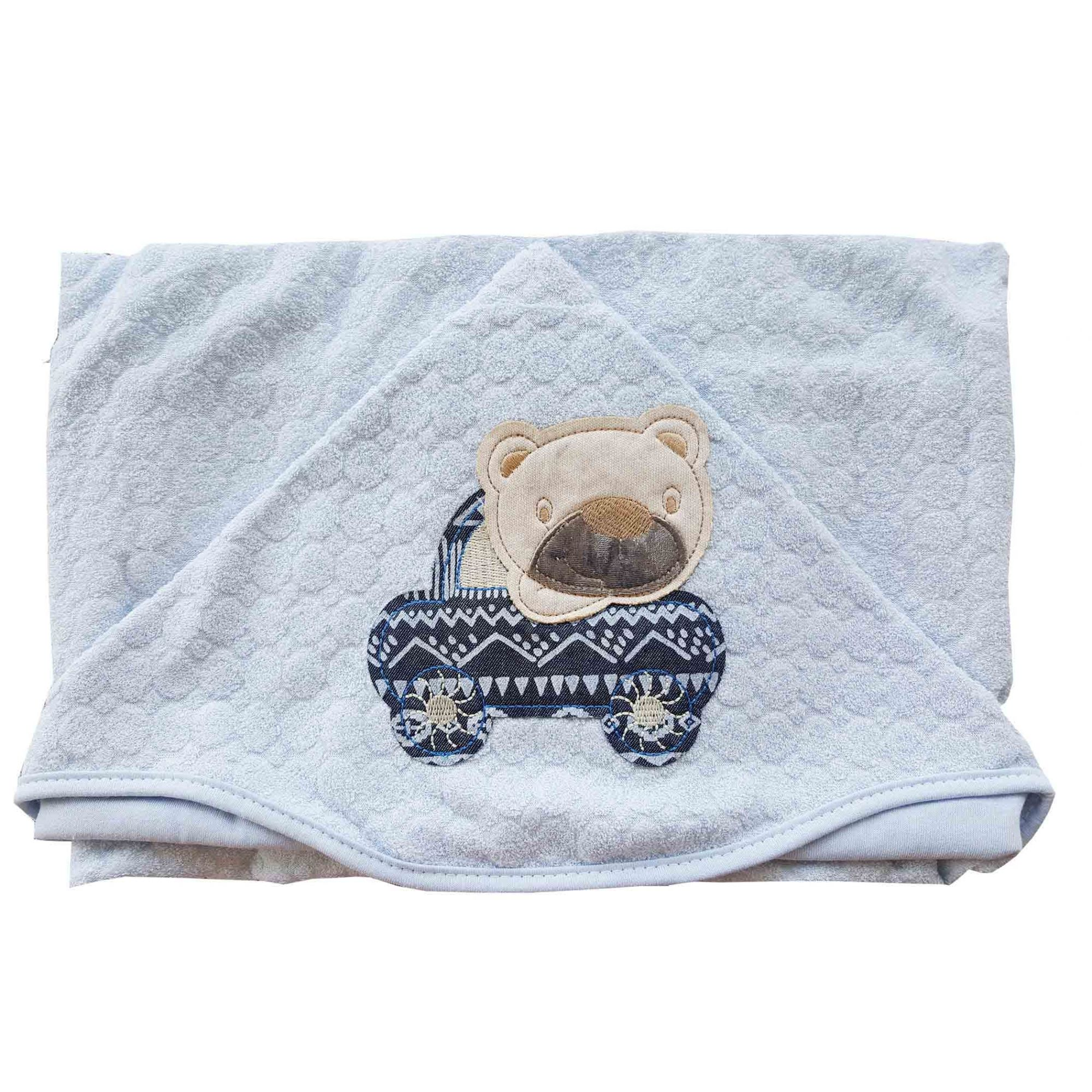 Toalha de Banho Peti Petá Ursinho carrinho