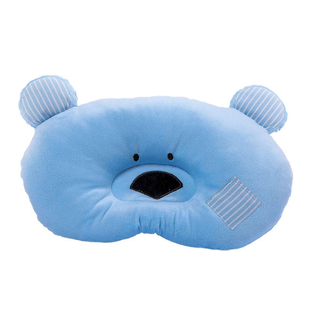 Travesseiro Zip Toys Urso Azul