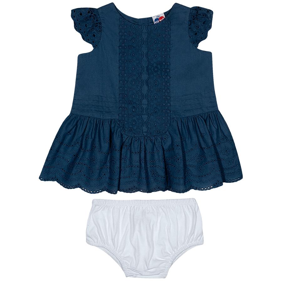 Vestido Bebê Tip Top Laise Azul