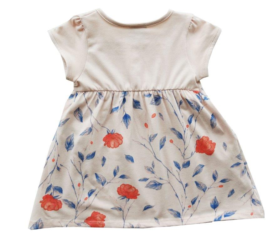 Vestido Milon bebê floral salmão  / Tamanho G