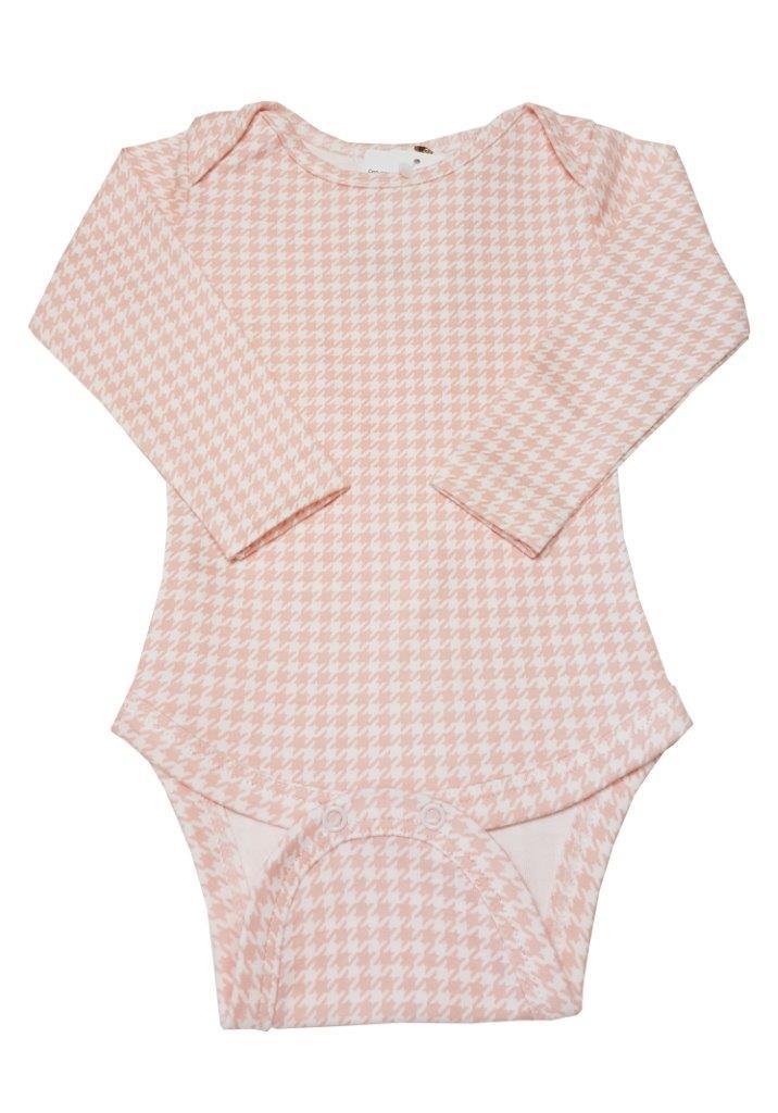 Vestido Coquelicot com body  manga longa corujinha / Tamanho 9 a 12 meses