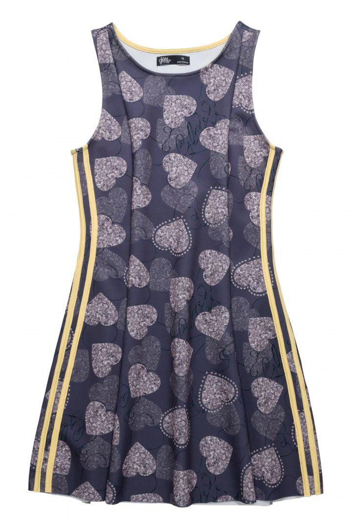 Vestido em neoprene sublimado Gloss Coração