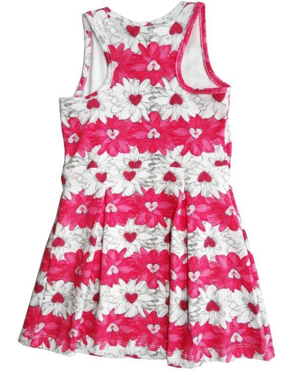 fef8e6f798 ... Vestido Brandili Infantil floral rosa branco   Tamanho 3 - Sonho  colorido kids ...