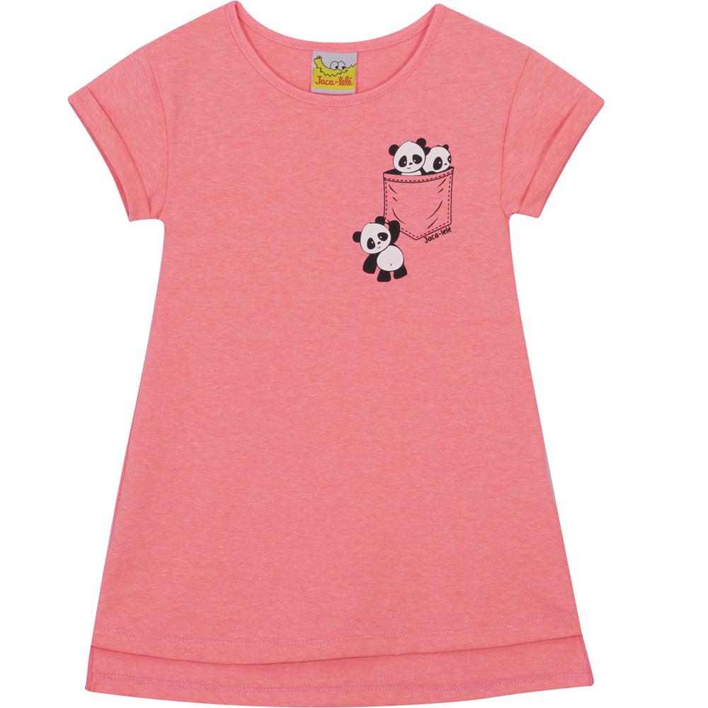 Vestido Infantil  JACA-LELÉ  Panda Pink