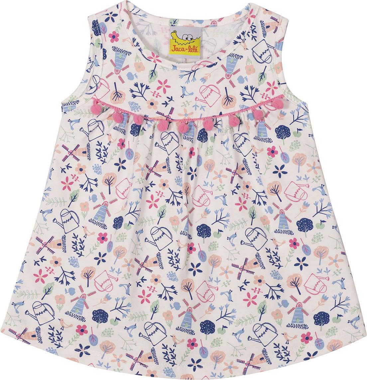 Vestido Infantil  reagata JACA-LELÉ  Jardim branco
