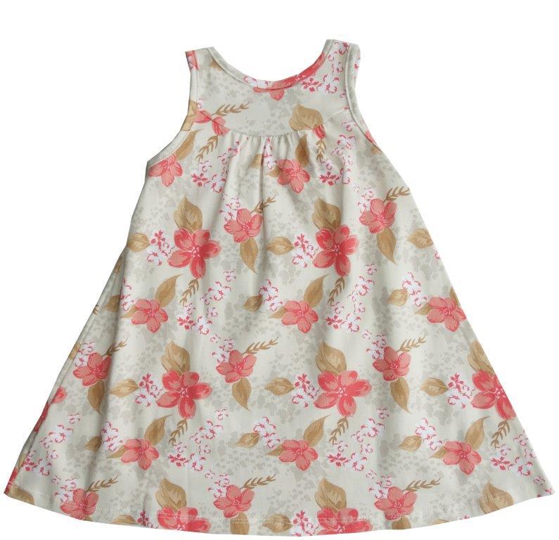Vestido Milon Floral laranja / beje  / Tamanho 2