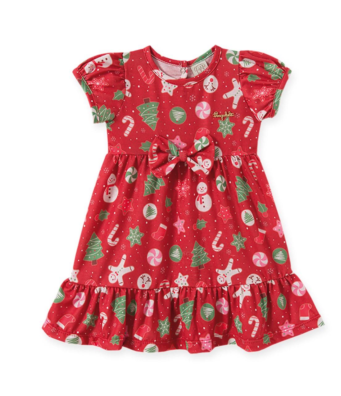 Vestido Pingo Lelê Natal Vermelho