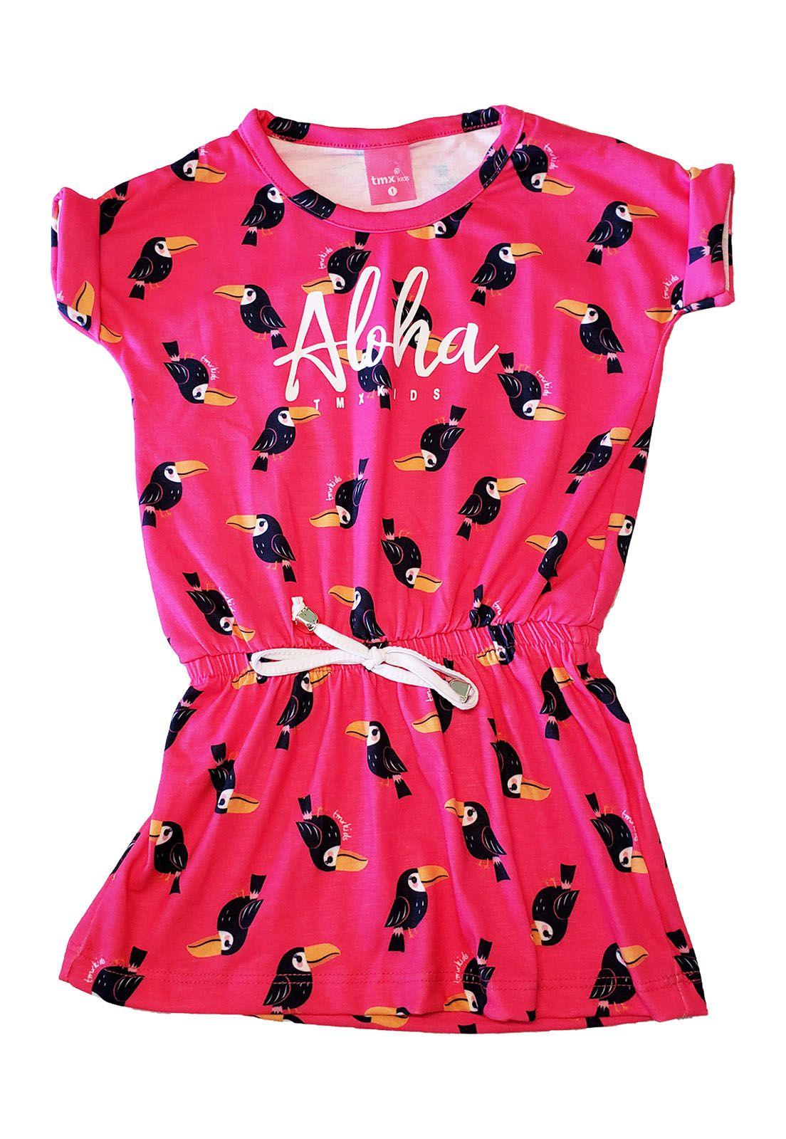 Vestido Primeiros Passos TMX  tucaninhos Pink