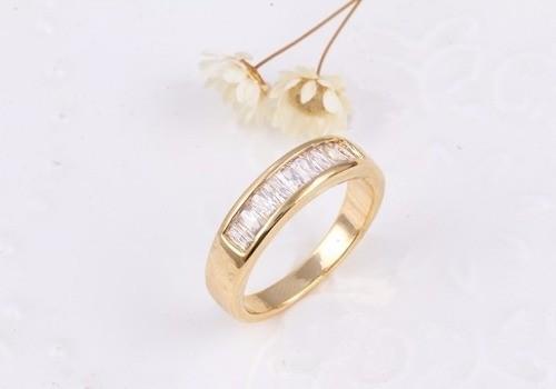 Anel De Cristal Banhado A Ouro 18 K Super Oferta